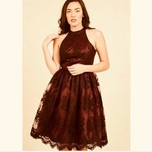NWT🍷MODCLOTH🍷LIZA LUXE HALTER LACE DRESS🍷